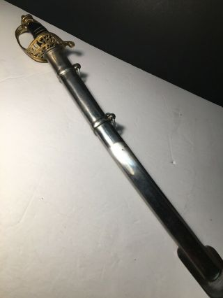 Civil War M 1850 Staff And Field Officer Sword Trench Art Engraving Confederate