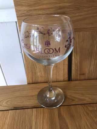Rare Item - Bloom London Dry Gin Tall Balloon Style Stemmed Glass