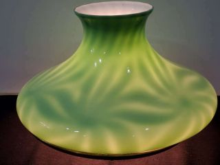 Antique Emeralite Cased Green Pinwheel Tam - O - Shanter Student Lamp Shade,  10 ""