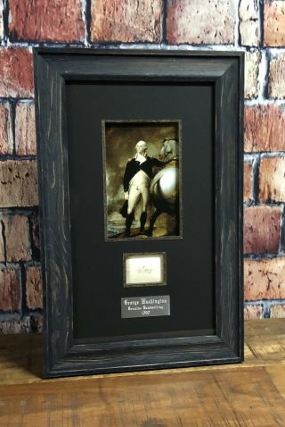 George Washington Handwriting Signed 1797 Psa/dna Authentic Historic Framed