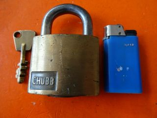 Old Antique Padlock From Chubb England Old High Security Padlocks Lock