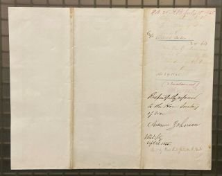 President Andrew Johnson Signed 1865 Letter Autographed Jsa Loa Extremely Rare