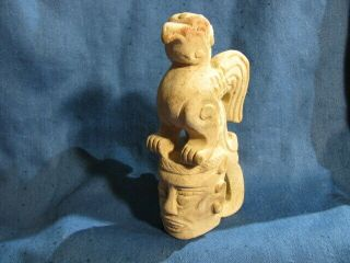Chinese Jade Carving Of Phoenix On Man