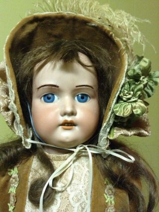 Antique German Doll 27 Inches Tall A & M