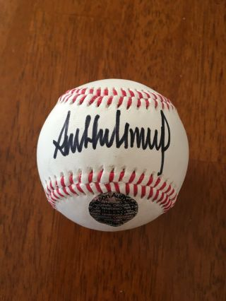 President Donald Trump Signed Autographed Auto Official Baseball W/ Potus