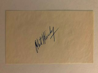 Robert F.  Kennedy Rfk Bobby Hand Signed 3x5 Cut Autograph Auto Extremely Rare
