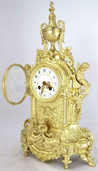 Large Antique French Mantle Clock Stunning 1880