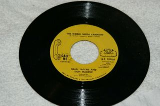 """Hank Jacobs Funk Soul 45 """" The World Needs Changin"""