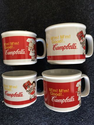 Campbell ' s Soup Souper Collectible Mugs Set of 4 Mmm'mmm Good Vintage GUC 2
