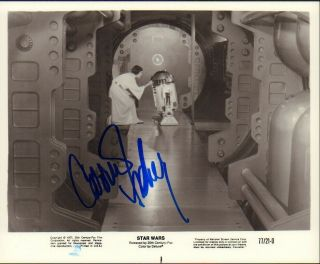 Carrie Fisher Signed On Star Wars Photograph 8x10 Autograph