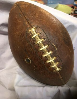 Vintage Spalding J5 - V Official Intercollegiate Football U Of W Game Ball??