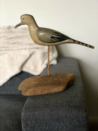 Capt Jimmy Wright Massey Md Hand Carved Dove Decoy