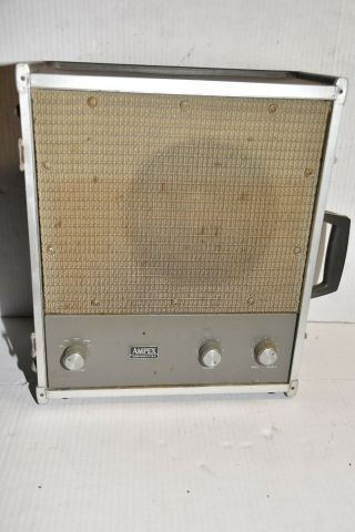 Vintage Ampex Model 692 Tube Mono Block Amplifier With Jbl Speaker And Case