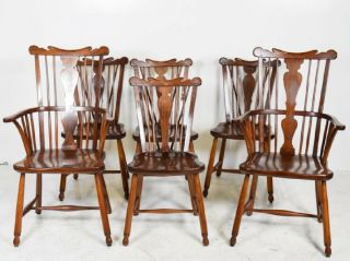 Set Of Six Vintage 1954 L.  &j.  G.  Stickley Dining Room Chairs