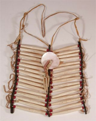 Ca1890s Native American Plains / Sioux Indian Bone Hairpipe Breastplate