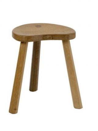 Robert Thompson Mouseman Oak Milking Stool Small Lower 100.