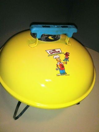 The Simpsons Portable Weber Charcoal Grill 10th Anniversary Ltd Ed Vintage