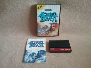 Vintage 1989 Sega Master System Sms Game Altered Beast Complete