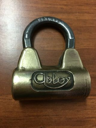 Vintage Abloy Padlock Brass High Security.  Made In Finland (no Key)