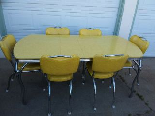 Vintage 50s Formica Dinnette Set / Table And Chairs