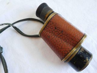 Signal Corps Us Army Ww1 Monocular Forest Fire Service Military Stereo 6x30 Vtg