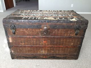 Louis Vuitton Steamer Trunk Authentic Early 1900