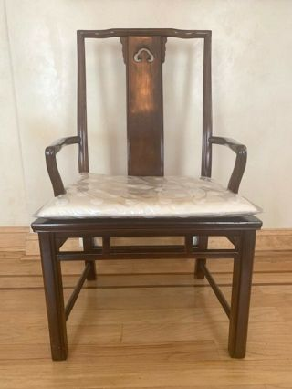 Set Of 6 Vintage Havy Asian - Style Dining Chairs,  Solid Wood Rare