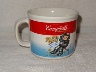 Campbell ' s Soup Souper Stars Chicken With Stars Mug - Boy Astronaut - 1990 3