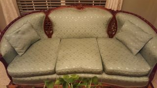 Vintage Victorian Style Couch And Chair