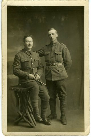 Ww1 Canada,  2 Members Of The 87th (canadian Grenadier Guards) Battalion,  Cef