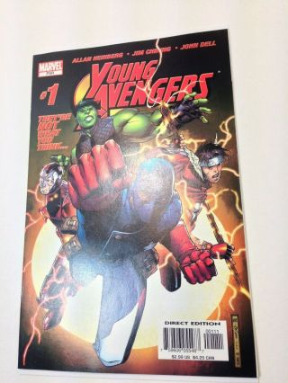Young Avengers 1 Comic Book 2005 1st Kate Bishop Hawkeye Hulkling