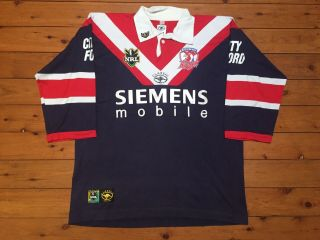 Sydney Roosters 2000 Rare Vintage Classic Nrl Rugby League Shirt Jersey Xl