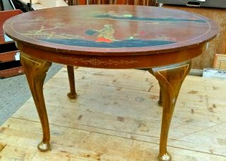 Vintage Chinoiserie Coffee Table By Northampton Cabinet Co Circa 1955