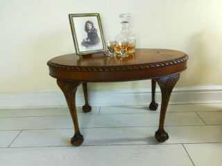 Antique Chippendale Style Coffee Table Ball And Claw Feet