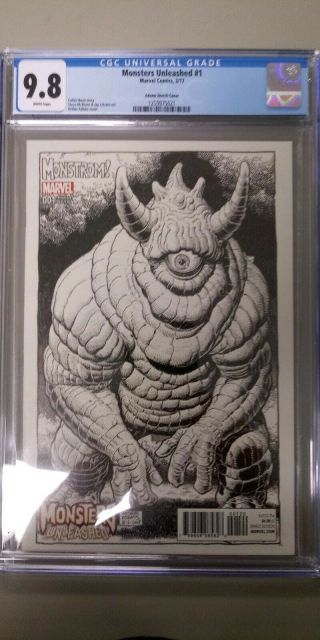 Monsters Unleashed 1 - Art Adams - Sketch Party Variant - 1 Per Shop Cgc 9.  8