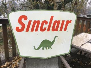 Vintage Sinclair Double Sided Porcelain Sign