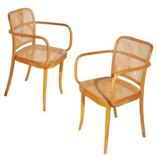 Handmade Bentwood And Cane Stendig Dining Chair By Josef Hoffmann For Thonet
