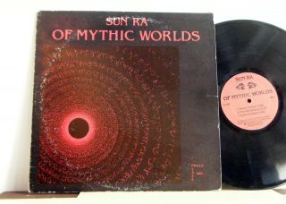 Sun Ra Arkestra Lp Of Mythic Worlds 1980 Philly Jazz Press Rare