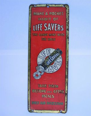 Life Savers Tin Sign Vintage Advertising - Garage Shop