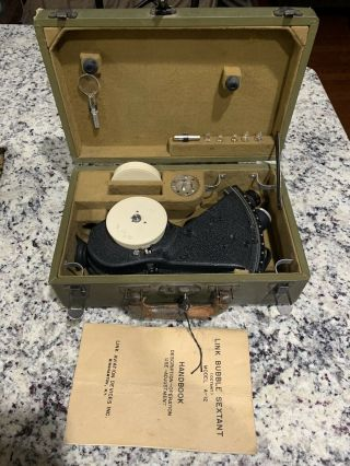 Antique Link Aviation Devices Bubble Sextant 1942 Model A - 12,  Rare And