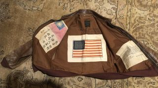 Wwii Named J.  A.  Dubow Cbi A - 2 Jacket With 3 Chits Size 40.