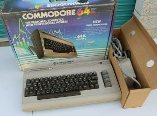 Vintage Commodore 64 Personal Computer With Power Pack