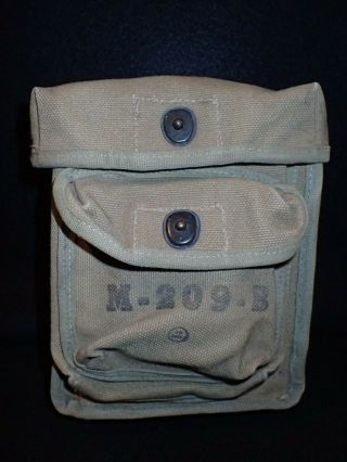Ww2 Us Army M - 209 - B Field Encoding Machine Cryptograph Canvas Carrying Case Rare