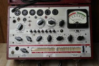 Vintage Hickok 600 Tube Tester Needs Fuse And Pilot Light