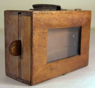 Antique Small Wooden Bee Lining Or Hunting Box Apiary Beekeeping W Glass Window