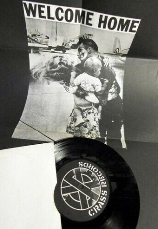 """Crass How Does It Feel To Be The Mother Of A 1,  000 Dead? 1983 7 """" Vinyl,  Poster"""
