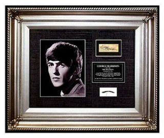The Beatles George Harrison Hair Lock Photo Signed Art Music Memorabilia Offers