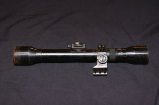Wwii Era Hensoldt - Wetzlar Dialytan 4x 3572 German Sniper Cross Hair Rifle Scope