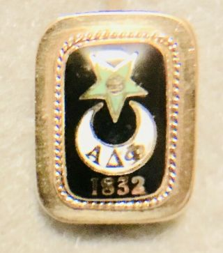 Alpha Delta Phi Solid Gold Badge,  Kenyon 1901 Initiate.  118 Years Old Badge