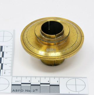 Antique Brass Goniometer For A Microscope By R&j Beck,  Late 19th C.